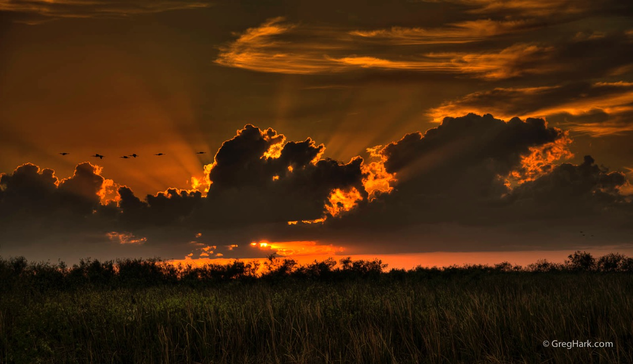 Arthur R. Marshall Loxahatchee National WIldlife Refuge loxahatchee  sunset,