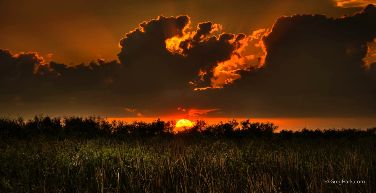 Arthur R. Marshall Loxahatchee National WIldlife Refuge loxahatchee fire-ball-sunset,